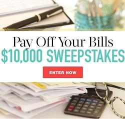 Pay Off Your Bills $10,000 Sweepstakes