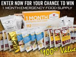 Emergency Food Supply Sweepstakes