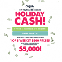 Clayton Homes Holiday Cash Sweepstakes