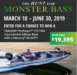 Hunt for Monster Bass Sweepstakes