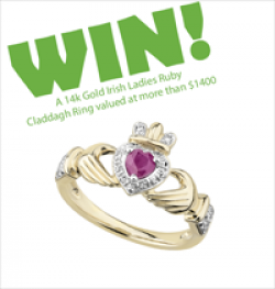 Ruby Claddagh Ring Giveaway