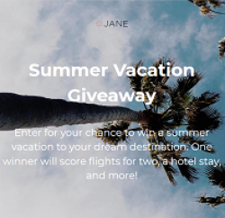 Jane Summer Vacation Giveaway