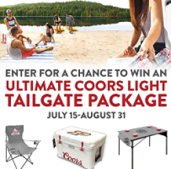 Coors Light Tailgate Giveaway