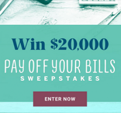 Pay Off Your Bills Sweepstakes