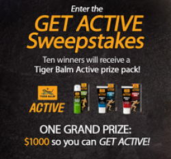 Tiger Balm Get Active Sweepstakes