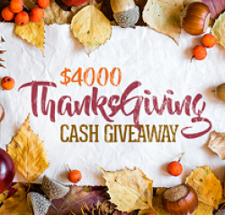 $4,000 Thanksgiving Cash Sweepstakes