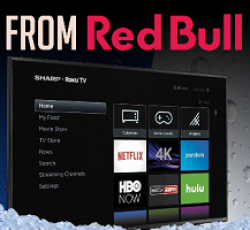 Red Bull Sharp TV Giveaway