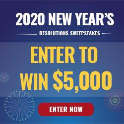 2020 New Years Resolutions Sweeps prize ilustration