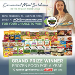 March Frozen Food Month Sweepstakes prize ilustration
