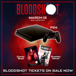 Harkins Theatres Bloodshot Sweepstakes prize ilustration