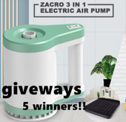 Zacro 3-in-1 Balloon Air Pump Giveaway prize ilustration
