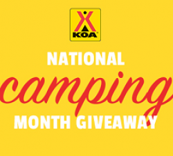 National Camping Month Sweepstakes prize ilustration