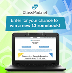 ClassPad Chromebook Sweepstakes prize ilustration