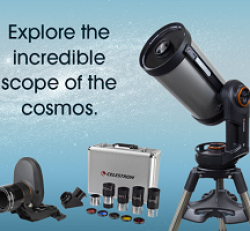 Galaxies Celestron Telescope Giveway prize ilustration