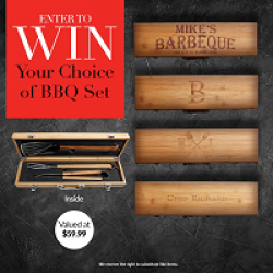 Personalized BBQ Set Giveaway prize ilustration