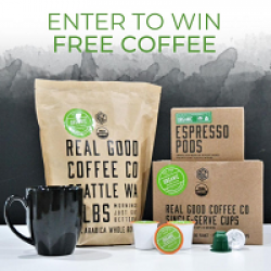 Real Good Coffee Company Giveaway prize ilustration