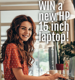Holly Holston HP Laptop Giveaway prize ilustration