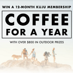 Kuju Coffee for a Year Sweepstakes prize ilustration