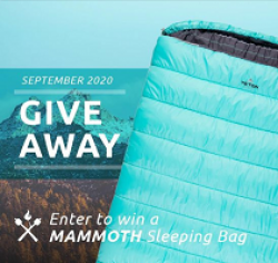 Mammoth Double Sleeping Bag Giveaway prize ilustration