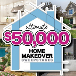 Ultimate $50,000 Home Makeover Sweeps prize ilustration