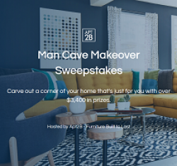 Apt2B Man Cave Makeover Sweepstakes prize ilustration