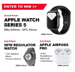 Manopause Apple Watch Giveaway prize ilustration