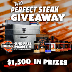 KosmosQ Perfect Steak Giveaway prize ilustration