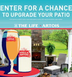 Stella Artois Home Patio Sweepstakes prize ilustration